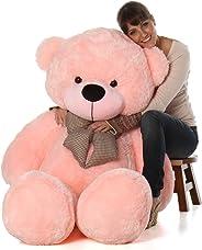 Hug 'n' Feel Soft Toys Extra Large Very Soft Lovable/Huggable Teddy Bear for Girlfriend/Birthday Gift/Boy/Girl Pink 3 feet (