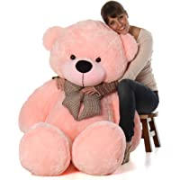 GURUDEV's Lovable/Spongy 4 Feet Large Cute Teddy Bear for Kids & Girls Special Gift for Birthday/Anniversary/Valentine/Someone Special(121 cm,Pink)