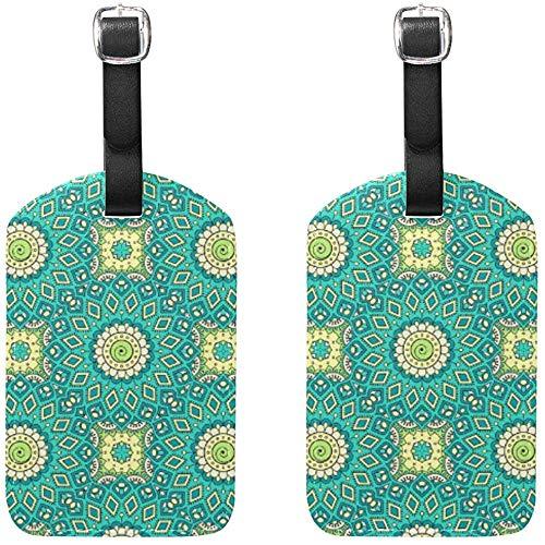 Indische Mandala Gepäckanhänger Tasche Reiseetiketten für Gepäck Koffer 2PCS -