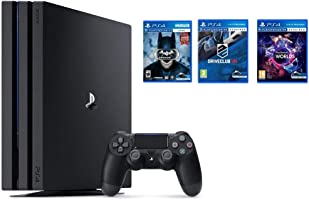 Sony PlayStation 4 Pro 1TB Console (Black) with 3 PSVR Games Bundle (Batman: Arkham VR, Driveclub VR, PlayStation VR Worlds)