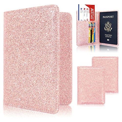 Passport halter Fall, acdream Schutzhülle Premium Leder RFID-blockierender Wallet Case für Passport (Flugtickets, Reisepass Case)