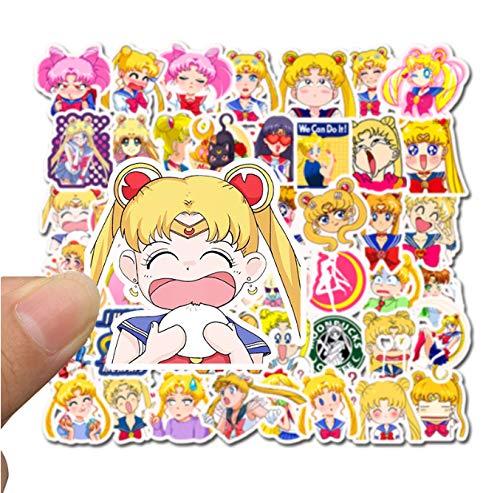 DZCYAN 50 PCS Self-Made Guardian SailorGirl Scrapbooking Decorative Sticker Decoration/Waterproof Paper Stickers