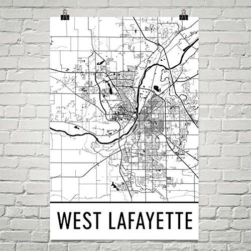 West Lafayette Poster, West Lafayette Wandkunst, West Lafayette Karte, West Lafayette City Karte, West Lafayette Indiana City Karte Kunst, West Lafayette Geschenk, West Lafayette Dekor, (24