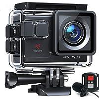 Victure AC700 Action Cam 4K 20MP wasserdichte 40M Unterwasserkamera WiFi helmkamera mit EIS Sensor, 2.4G Fernbedienung…