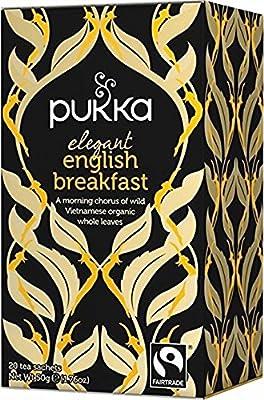 Pukka Thé Elegant English Breakfast Bio 20 Sachets 50 g - Lot de 2