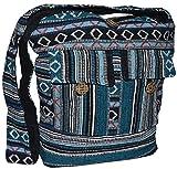 Schultertasche Umhängetasche Beuteltasche Freizeittasche Ethno Boho Hippie Goa Indische Tasche...