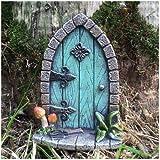 Prezents.com Miniatur Pixie, Elf, Feentür – Baum Garten Dekoration – lustige lustige Geschenkidee – Höhe 9 cm
