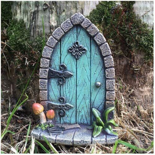 (Prezents.com Miniatur Pixie, Elf, Feentür – Baum Garten Dekoration – lustige lustige Geschenkidee – Höhe 9 cm)