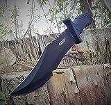 31cm großes Mega black Bowie Messer - Kampfmesser - Jagdmesser - Outdoor- Fahrten- Trecking- Messer