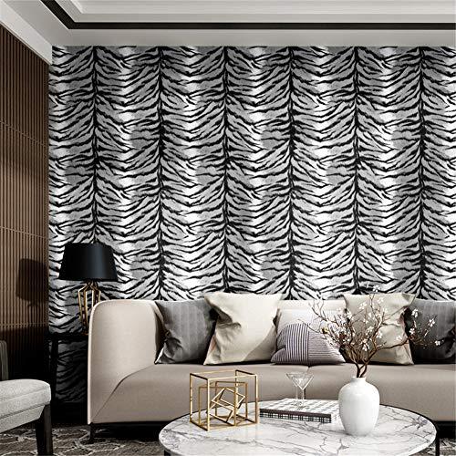 MXPL Zebra Tapete Wohnzimmer Schlafzimmer Tapete Modernen Minimalistischen Retro Nostalgie Tapete TV Hintergrund Wand Leopard Tapete