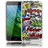 thematys Passend für Acer Liquid Z6 Comic Haha Silikon Schutz-Hülle weiche Tasche Cover Case Bumper Etui Flip Smartphone Handy Backcover Schutzhülle Handyhülle
