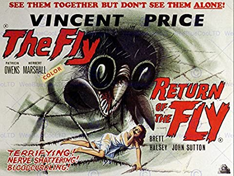 MOVIE FILM RETURN OF THE FLY VINCENT PRICE SCI FI HORROR SEQUEL USA 30x40 cms ART POSTER PRINT PICTURE