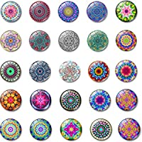 lilyshopingstore 24 Pieces Glass Refrigerator Fridge Magnets, Beautiful Fridge Board Magnets for Refrigerator Office Cabinet Whiteboard Photo, Magnets for Decorate Home Gift