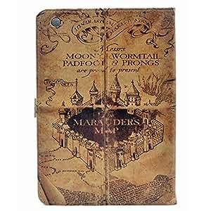 ipad mini Series CASE Hogwarts Marauder's Map Vintage Retro Pattern Leather Flip Stand Case Cover For ipad mini 1, ipad mini 2 Retina ,ipad mini 3
