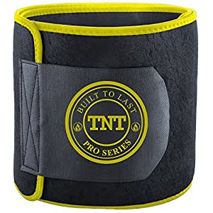 """TNT Pro Series Waist Trimmer Weight Loss Ab Belt - Premium Stomach Wrap and Waist Trainer (Small: 8"""" Wide x 32"""" Length)"""