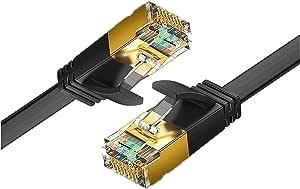 Reulin Ethernet Kabel 1 2m Cat 7 Flach Lan Kabel 10g Elektronik