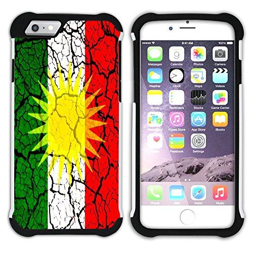 Graphic4You Kurdistan Kurdisch Flagge Hart + Weiche Kratzfeste Hülle Case Schale Tasche Schutzhülle für Apple iPhone 6 / 6S Design #6