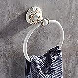 D&D-Bathroom Accessories Badaccessoires Sets/Im europäischen Stil des Ländlichen Weißen Aluminium Legierung Badezimmer Armaturen, Handtuchhalter, WC-Papier Rack, Handtuch Ring