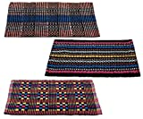 #6: Story@Home Traditional Style Eco Series 3 Piece Cotton Blend Door Mat Set - 16