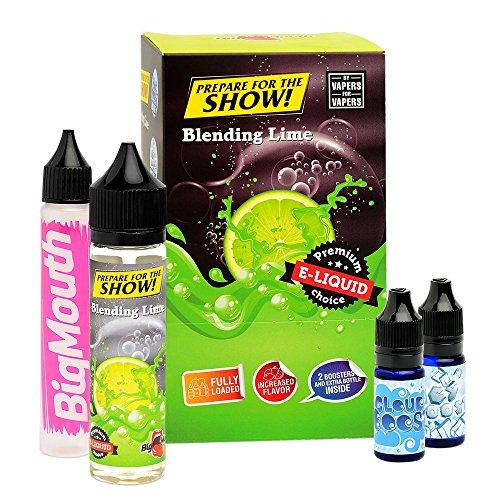 Big Mouth Prepare For The Show! Premium e-Liquid (Shake-and-Vape für e-Zigarette, 0,0 mg Nikotin) Blending Lime, 70 ml (50 ml Premiumliquid, 10 ml Cloud Boost und 10 ml Icy Boost)