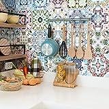 Ambiance-Live Azulejos hidráulicos Adhesivos para Pared-Azulejos-20x 20cm-24Piezas