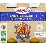 babybio Carotte, potimarron, riz, dès 6 mois, certifié AB ( Prix unitaire ) - Envoi Rapide Et Soignée