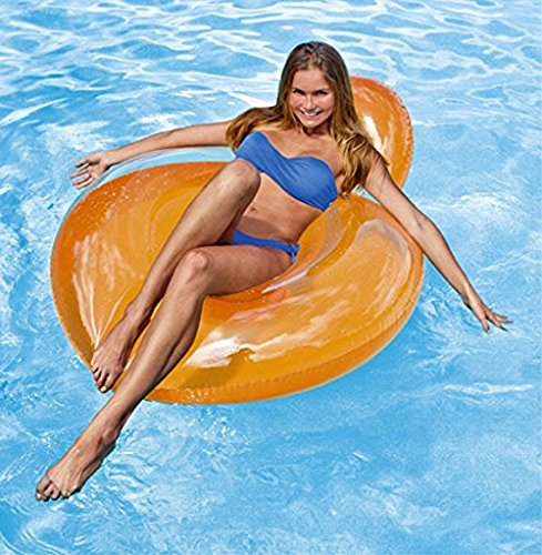 Luftmatratze Lounge Lehne für Pool Garten in orange - 2
