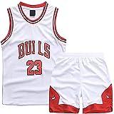 TYTF - Conjunto de camiseta de baloncesto sin mangas para niño, de malla, uniforme de camiseta y pantalón corto, para verano,