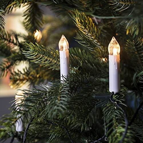20 Warm White LED Christmas Candle Indoor Fairy Lights with Tree Clips by Lights4fun
