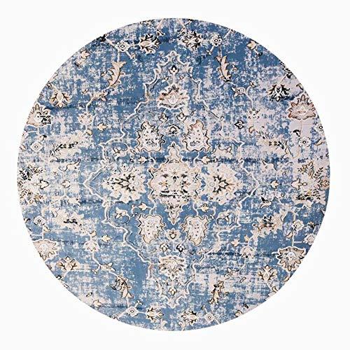 6 Runde Bereich Teppich (JIAJUAN Runder Teppich Rutschfest Atmungsaktiv Weich Waschbar Region Bodenmatte Innen- Nordisch, 6 Mm, 3 Farben, 5 Größen (Farbe : Blau, größe : 200cm))