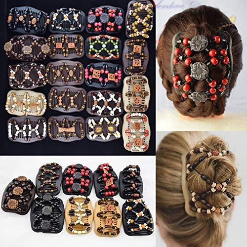 Dehnbare Haarkämme, für Damen, verschiedene Farben