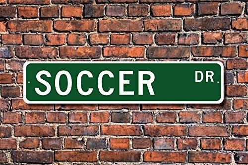 Fußball Schild Fan Soccer Player Fußball Geschenk Fußball Decor Fußball Leichtathlet Fußball Street Art Wall Decor Aluminium Metall Schild 45x 10cm -
