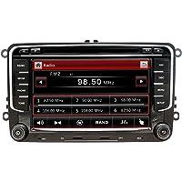 NVGOTEV Autoradio GPS Navigator Compatible pour Golf 7 Pouces Double Din HeadUnit 2 Din Car Stéréo avec DVD CD Player…