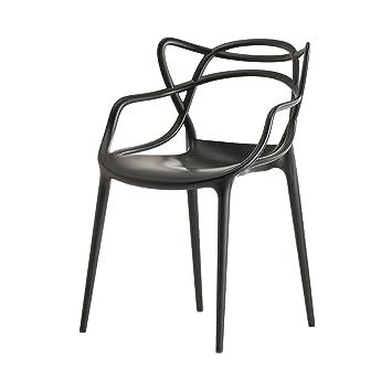 Kartell 586509 Stuhl Masters, Schwarz: Philippe Starck: Amazon.de: Küche U0026  Haushalt