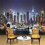 New York Nacht Wandbild Wandbild Kunst Tapete Zimmer TV Hintergrundbild Dekoration