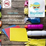 "NinjaClean Kitchen Wipes - 100% Biodegradable Cellulose Wiping Sponge (21"" X 18"" cm)"