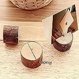 12 soportes de madera para tarjetas de ubicación, tarjetas de mesa, para fiestas y bodas, de MFCreative