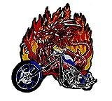 Motorrad Drachen Biker, Bikerpatch AufnäherPatch Applikation Iron on Patches