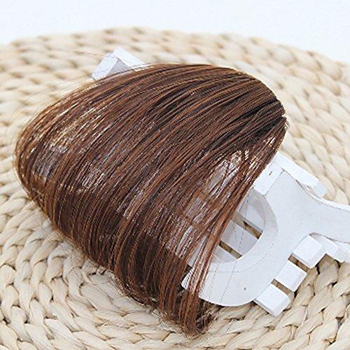 MerssavoHellbraun Haarspange in Bangs Fake Haarverlängerung falsch Hair Piece Clip