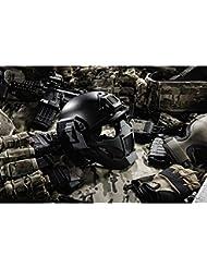 TMC X Jay Modular carcasa rígida máscara de media cara para Airsoft Paintball milsim–negro