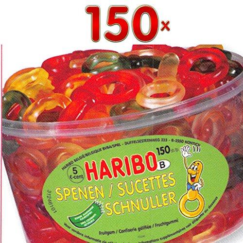 Haribo Sucettes 150 Stck. Runddose (Fruchtgummi-Schnuller)