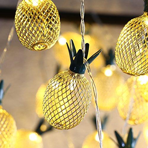ights, 5m/16ft 40 LED Wasserdicht Lampe 2 Lighting Modes, Batteriebetrieben Lichterkette für Halloween Weihnachtsferien Hochzeit Geburtstag Party Schlafzimmer Dekoration, Warmweiß ()