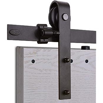 fixkit 183cm quincailleri kit de rail pour porte coulissante ensemble industriel pour porte. Black Bedroom Furniture Sets. Home Design Ideas