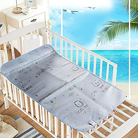 Baby Breathable Changing Pad Sleeping Mattress Mat Waterproof Cooling Pad Crib Scrambling Sheet Best for Summer Nursery 47