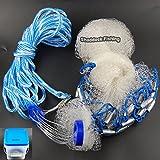 Facile Catch® 4ft/6ft/8ft/10ft/12ft 3/8' Maille Taille Professionnel Filet de pêche casting Fishing Cast Net (6-Feetx3/8-Inch)