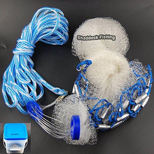 Easy Catch® Professional klar Angeln Net Superior handgefertigt Köder Cast Net mit 3/20,3cm SQ. Mesh (erhältlich 4ft-10ft, VERSAND DURCH UPS oder Fedex) 4-Feetx3/8-Inch (Cast Net 3/8 8')