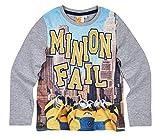Minions 3 Langarmshirt Kollektion 2017 Shirt 110 116 122 128 134 140 146 152 Jungen Herbst Winter Blau (Grau, 122-128)