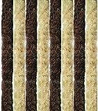 Arsvita Flausch-Vorhang, viele Variationen, Größe: 90x200 cm, Farbe: beige-braun