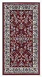 andiamo Klassischer Orientteppich Perserteppich Orientteppich - Ornamente Muster Webteppich Kurzflorteppich - in rot 60 x 110 cm