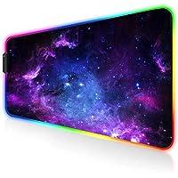 AILRINNI RGB Tapis de Souris Gaming - Grand Tapis de Souris XXL 800x300mm, 14 Modes LED Lumineuse Tapis de Souris…